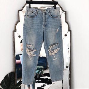 Topshop NWOT Hayden distressed boyfriend jeans